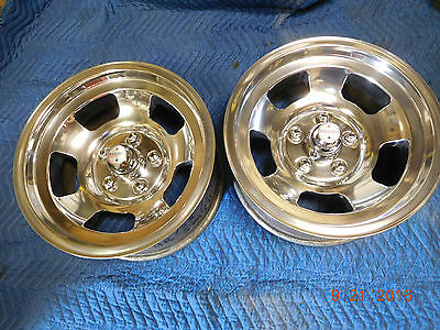 VINTAGE POLISHED AMERICAN RACING SPIRIT 15x7 SLOT MAG WHEELS RATROD SS MAGS VAN
