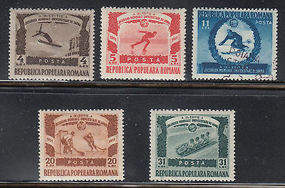 Romania 768-772 VF LH 1951 9th World University Winter Games Sports Set of 5