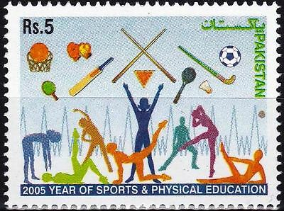 Pakistan Stamps 2005 Year of Sport Table Tennis Cricket Hockey Football Etc