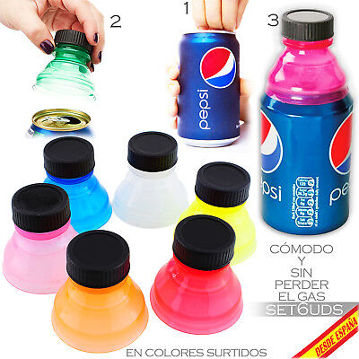 Adaptador Convierte Bote Lata A Botella Bottle Top Can Convert Adapter Soda