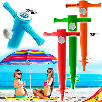 Pincho Soporte Cuña Base Sombrilla Playa Piscina Support For Beach Umbrella