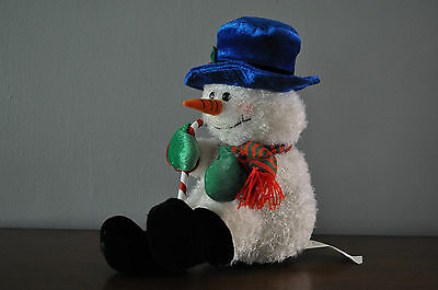 RARE Gemmy Animated Motion Sensor Snowman ~Laughs~talks~squirms~Lighted Cheeks