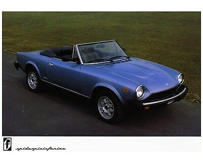1983 1984 Fiat 124 Spider Pininfarina Factory Photo ca6838