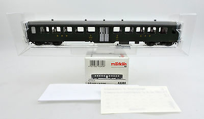 MARKLIN HO SCALE 43380 SBB 2nd CLASS PASSENGER CAR #B 6124