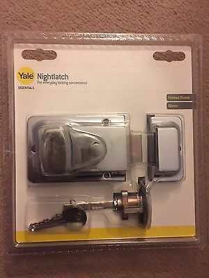 Yale 60mm Nightlatch & Cylinder Lock & Keys in Polished Chrome Night Latch