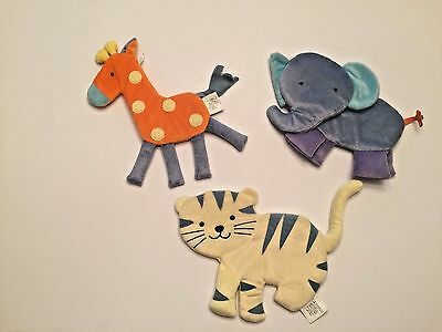 3 Soft Plush Jungle Safari Animal Baby Nursery Wall Hanging Decor Picture