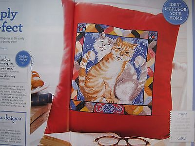 Purr-fect Cats Cushion Cover - cross stitch chart only