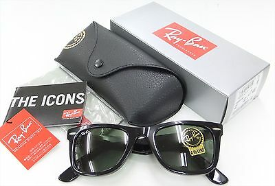 RAY-BAN MEN'S LARGE ORIGINAL WAYFARER G-15XLT LENS BLACK RB2140 901/50 or 901/54