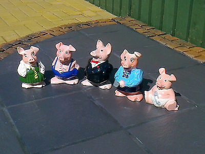 ***nat West Wade Full Set Of Ceramic Pigs ~  Mint Condition***