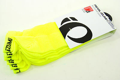 Pearl Izumi Men's Attack Low Socks 3-Pack, Cycling, Screaming Yellow, XL (10-13)