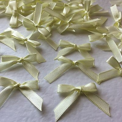 10 Pretty Baby Yelllow 6mm Ribbon bows -card making/scrap booking  -help charity