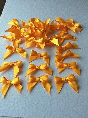 10 Pretty Bright Tangerine orange 🍊10mm Ribbon bows -card making/scrap booking
