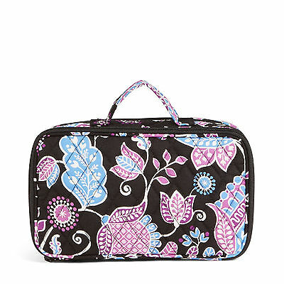 Vera Bradley Alpine Floral Blush &  Brush Makeup Case Medium Size Luggage Nwt