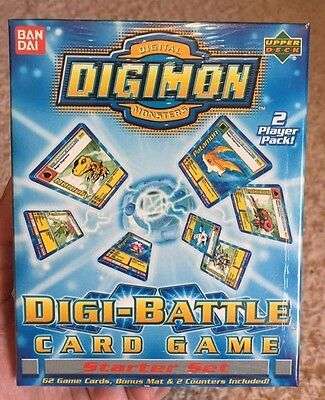 Digimon Digital Monsters Digi-Battle Card Game Starter Set 1st Edition 2 Player