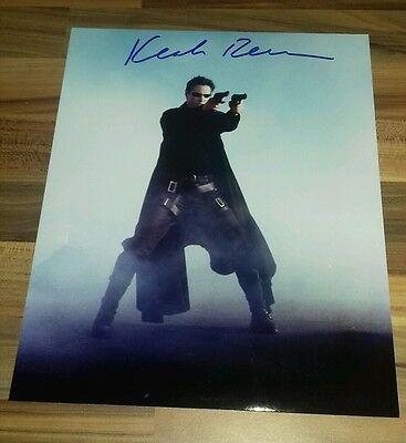 """Keanu Reeves ~ Canadian Actor, """"the Matrix"""" ~ Hand-Signed 10X8 Photo + Coa"""
