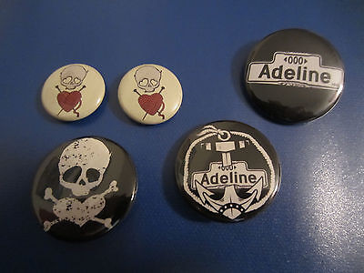 LOT of Adeline buttons Billie Joe Armstrong Green Day