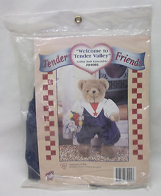 """NEW in pkg Sailor Suit outfit for 12"""" Teddy BEAR Tender Heart Treasures Friends"""