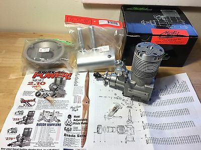 Moki 210 Ringed 35cc RC model airplane engine with Muffler and Mount NIB