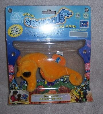 Applause Seapals World Sea Horse Finger Puppet by Russ - NEW IN PACKAGE