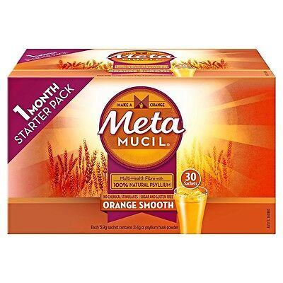 6 X Metamucil Smooth Orange Sachet 30 (180) Free Delivery Value Buy!