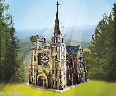 Building GOTHIC CATHEDRAL War Games Terrain Landscape Middle Ages 25-28 mm