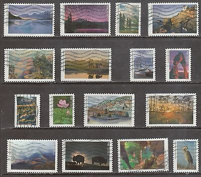 Scott #5080 A-P Used Set of 16, National Parks Centennial (Off Paper)