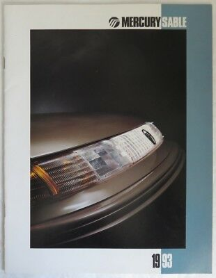 1993 Mercury Sable  Brochure Catalog                 (Inv13502)