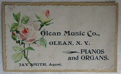 Vintage Olean Music Co. New York Trade Card                       (Inv13508)