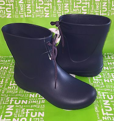 11a712fc60161a New Crocs Freesail Shorty Rain boots • Womens Size 7 Navy Blue - Pull On