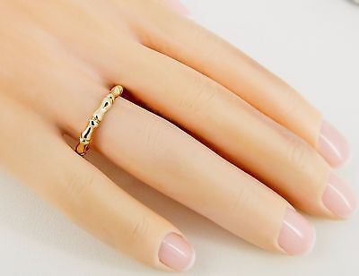 Fine 14k Bamboo 2mm Band Size 6 3/4