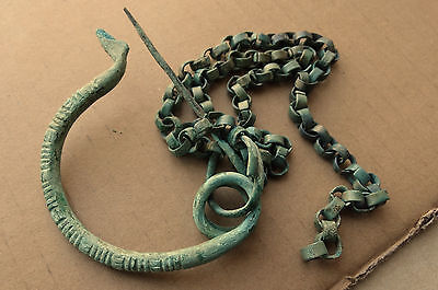 Rare Scythian Fibula with chain 7-6 BC