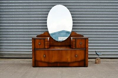 Art Deco Dressing Table In Walnut Veneer.
