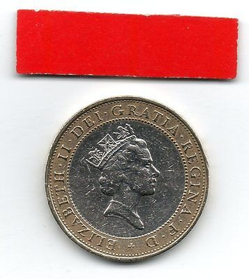 GREAT BRITAIN £2 pound coin 1997 Queen Elizabeth II with necklace