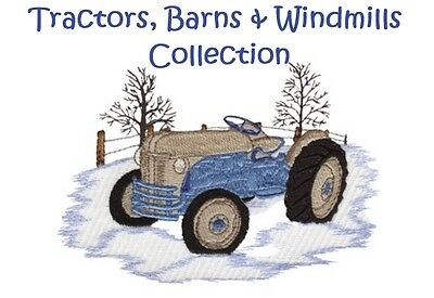 Tractors, Barns & Windmills Collection - Machine Embroidery Designs On Cd