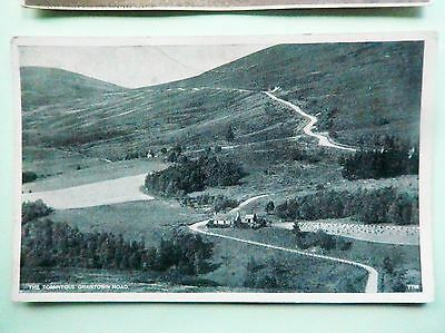 Real Photograh Post Card  - THE TOMINTOUL - GRANTOWN ROAD - MORAY - SCOTLAND