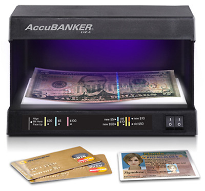 AccuBANKER D63 Compact Counterfeit Detector, Ultraviolet and Watermark Detection