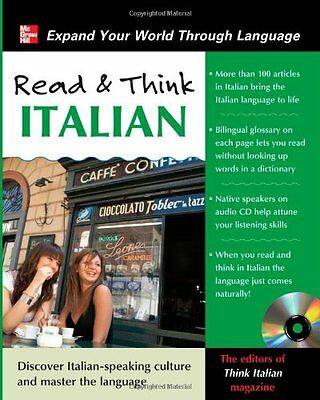 Read and Think Italian with Audio CD (Read & Think) By The Editors Of Think Ita