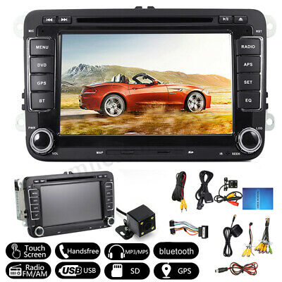 "7"" Car DVD Player Radio GPS Sat Nav Stereo Camera For VW Passat Golf Transporter"