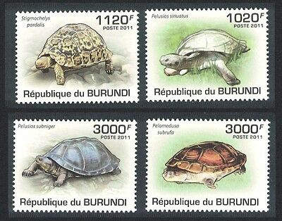 Burundi Turtles and Tortoises 4v