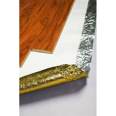 2mm Silver Foil Underlay Laminate Floating Timber Floor 2 in 1 Moisture Barrier