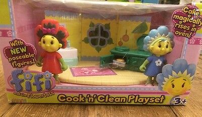 BRAND NEW FIFI & THE FLOWERTOTS COOK N CLEAN PLAYSET with Figures BOXED BNIB