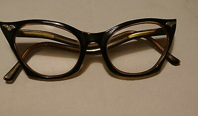 Vintage 1950s/60s Cats Eye Glasses Rockabilly Psychobilly Teddy Girl Twinwood