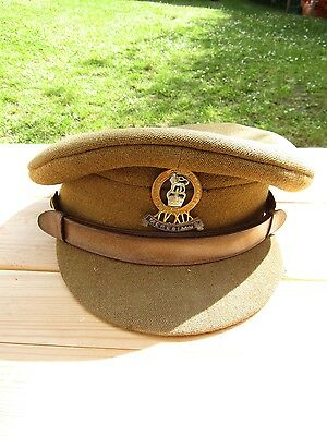 British 15th / 19th Hussars Officers WW2 Hat by Herbert Johnson Rarer Cap Badge
