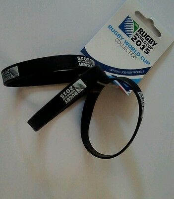 Rugby World Cup 2015 wristbands - set of 3 - Black
