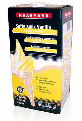 5 Liter Vanille Softeis Eismix Flüssigmix Fertigmix Eis Softeismix - Bag in Box