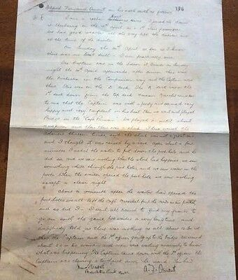 TITANIC Letter That Gives A Personal Eyewitness Account White Star Line   (32)