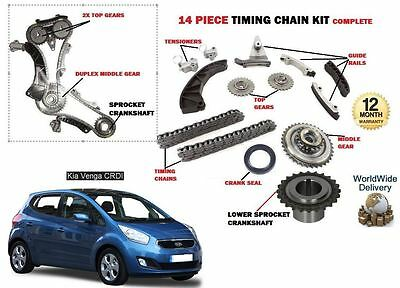For Kia Venga 1.4 Crdi D4Fc 2010--> New Timing Chain + Gears + Sprocket Kit