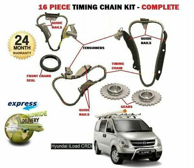 FOR HYUNDAI iLOAD 2.5 DT CRDI  D4CB 2009->on TIMING CAM CHAIN + TENSIONER KIT
