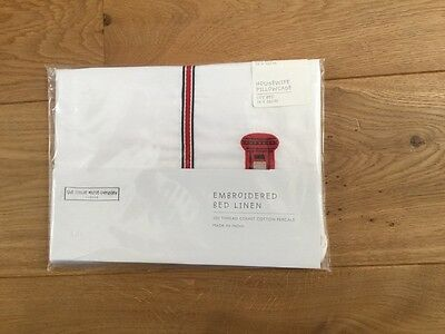 the Little white company cot bed Housewife pillowcase Bedding london theme nwt