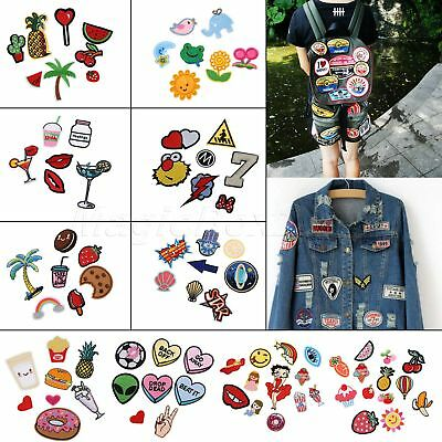 Iron / Sew On Embroidered Patch Applique Embroidery craft fabric Décor DIY 1 SET